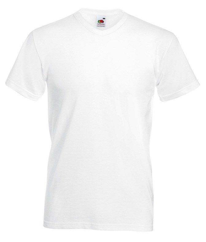 12 Witte Fruit of the Loom Slimfit T Shirts T Shirts4Less.nl